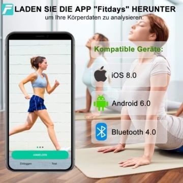 INSMART Körperfettwaage App Fitdays